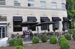 华盛顿特区, 2017年7月4日:PJ克拉克从华盛顿哥伦比亚特区美国街市的` s餐馆  库存图片