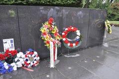 华盛顿特区, 7月5日:从华盛顿哥伦比亚特区美国的韩战纪念品 库存图片