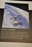 华盛顿特区, 8月5日:在从华盛顿特区的Smithonian国家宇航博物馆间隔遮阳伞信息在美国 库存图片