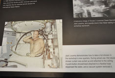 华盛顿特区, 8月5日:太空实验室乘员组信息在从华盛顿特区的Smithonian国家宇航博物馆在美国 免版税图库摄影