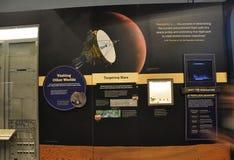 华盛顿特区, 8月5日:瞄准火星信息在从华盛顿特区的Smithonian国家宇航博物馆在美国 免版税图库摄影