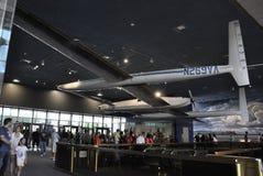 华盛顿特区, 8月5日:飞机在从华盛顿特区的Smithonian国家宇航博物馆在美国 免版税图库摄影