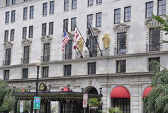 华盛顿特区, 2017年7月5日:从华盛顿哥伦比亚区的历史建筑在美国 库存照片