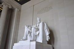 华盛顿特区, 8月5日:从华盛顿哥伦比亚特区的林肯纪念堂纪念碑 免版税库存照片
