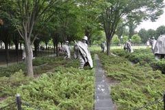 华盛顿特区, 8月5日:从华盛顿哥伦比亚特区的韩战纪念品 免版税库存照片