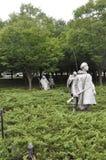 华盛顿特区, 8月5日:从华盛顿哥伦比亚特区的韩战纪念品 库存照片