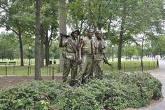 华盛顿特区, 8月5日:从华盛顿哥伦比亚特区的韩战纪念品 库存图片