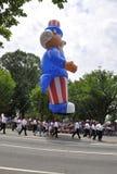 华盛顿特区, 2017年7月4日:7月4日游行的游行从华盛顿哥伦比亚特区美国 免版税库存照片