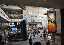 华盛顿特区, 8月5日:Smithonian从华盛顿特区的国家宇航博物馆内部在美国 库存照片