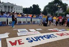 华盛顿特区- 2017年9月03日:DACA和梦想行动抗议 免版税库存图片