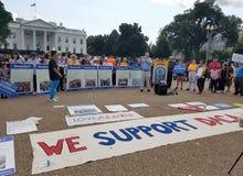 华盛顿特区- 2017年9月03日:DACA和梦想行动抗议 免版税图库摄影