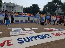 华盛顿特区- 2017年9月03日:DACA和梦想行动抗议 免版税库存照片