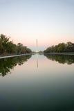 华盛顿纪念碑在微明下 免版税库存照片