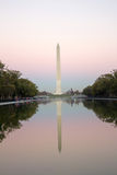 华盛顿纪念碑晚上 图库摄影