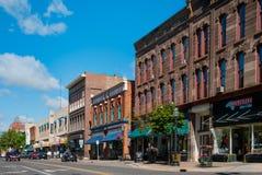 华盛顿街, Marquette,密执安 免版税库存图片