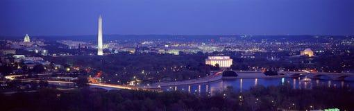 华盛顿鸟瞰图  库存照片