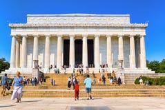 华盛顿,林肯纪念堂,全国纪念品 库存图片