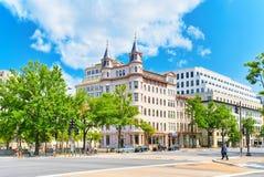 华盛顿,美国,城市国家会议的都市都市风景  免版税图库摄影