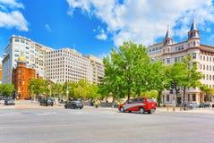 华盛顿,美国,城市国家会议的都市都市风景  库存图片