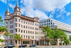 华盛顿,美国,城市国家会议的都市都市风景  库存照片