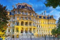 华盛顿,美国,艾森豪威尔在Pennsyl的行政办公室大厦 免版税图库摄影