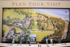 华盛顿` s芒特弗农庄园布局地图 免版税库存照片