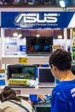 华硕计算机公司 在曼谷加入陈列 库存照片