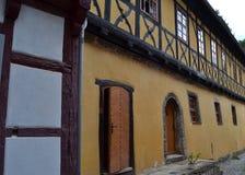 华美的半木料半灰泥的议院在德国 免版税库存图片