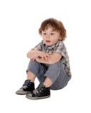 华美的小男孩画象  免版税库存照片
