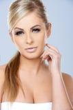 华美的性感的白肤金发的妇女 免版税库存图片