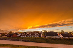 华美的挪威天空 免版税图库摄影