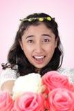 华美的新娘浪漫惊奇 免版税库存照片