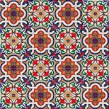 华美的无缝的样式白色五颜六色的摩洛哥,葡萄牙瓦片, Azulejo,装饰品 能为墙纸使用 免版税库存照片