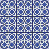 华美的无缝的样式 摩洛哥,葡萄牙瓦片, Azulejo,装饰品 免版税库存照片