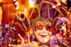 华美的欢乐威尼斯式面具 库存图片