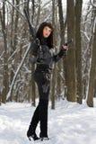 华美的步枪妇女年轻人 库存照片