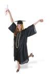 华美的毕业妇女 免版税库存照片