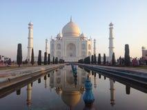 华美的泰姬陵,阿格拉,印度 图库摄影