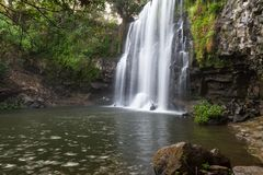 华美的瀑布在哥斯达黎加 库存照片