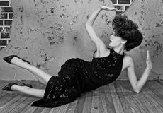 华美的高档时尚称呼了妇女 免版税图库摄影