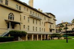 华美的建筑学在125年Jekyll海岛俱乐部旅馆,乔治亚里, 2015年 免版税库存照片