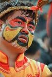 华联Drgon,面孔绘画 免版税库存照片