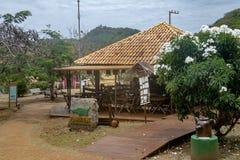 华腴正方形的-费尔南多・迪诺罗尼亚群岛, Pernambuco,巴西华腴餐馆 免版税库存图片