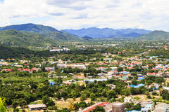 华hin市, Prachuapkhirikhan,泰国视图  库存照片