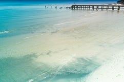 华Hin海滩。 免版税库存图片