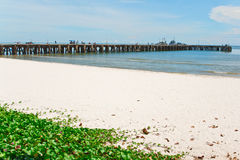 华Hin海滩。 免版税图库摄影
