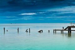 华Hin海滩。 库存图片