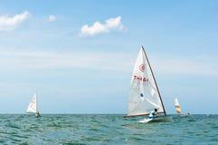 华Hin赛船会2012年,航行竞争 库存图片