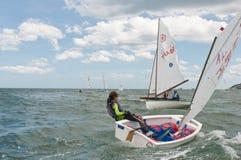 华Hin赛船会2012年,航行竞争 免版税库存图片