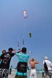 华Hin风筝搭乘世界杯2010年 免版税库存图片